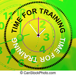 lezioni, rappresenta, addestramento, tempo, educazione, istruendo