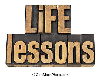 lezioni, vita, testo, -, legno, tipo