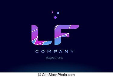 lf, blu, colorato, f, viola, alfabeto, l, rosa, vettore,...