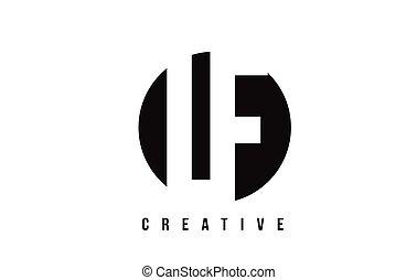 lf, f, l, fondo., disegno, lettera, logotipo, cerchio bianco