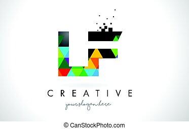 lf, lettera, colorito, f, l, struttura, disegno, vector.,...