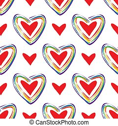 lgbt-12 - Seamless pattern with gay rainbow hearts. LGBT ...
