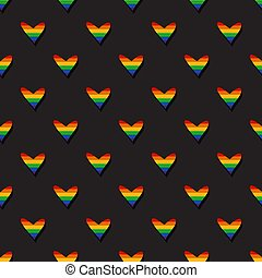 lgbt-14 - Seamless pattern with gay rainbow hearts. LGBT ...