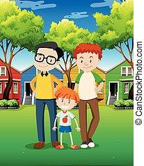 LGBT Adoption Family at Village illustration