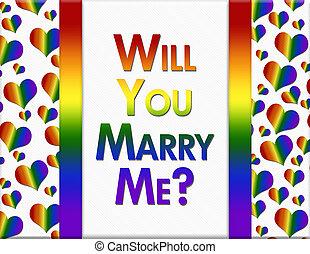 lgbt, akar, ön, házasodik, én, üzenet