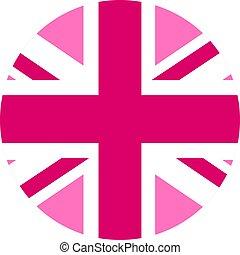 lgbt, blanc, icône, rond, drapeau, forme, fond