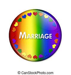 lgbt, bouton, mariage