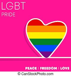 LGBT colorful heart for background, flyer, poster, brochure cover, typography or other printing products