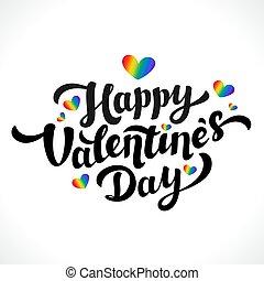 Lgbt community Happy Valentines Day design. 14th of...