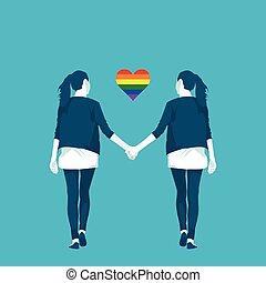 LGBT community lesbian in vector format eps10