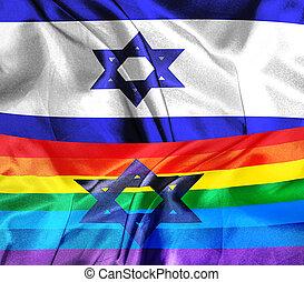lgbt, drapeau, israël