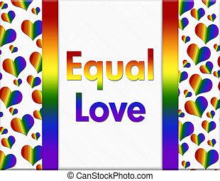 lgbt, egyenlő, szeret, üzenet