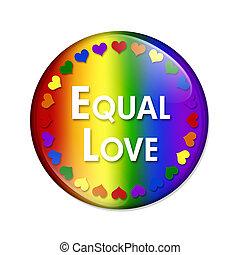 lgbt, egyenlő, szeret, gombol