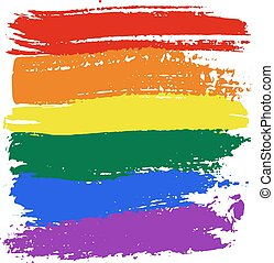 LGBT flag colors - Brush strokes in LGBT flag colors...