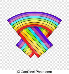 LGBT flag icon, cartoon style