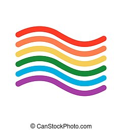 LGBT flag linear style. Sign of rainbow. Gay Symbol