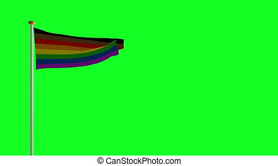 LGBT flag on green screen