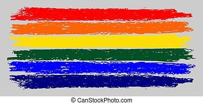 LGBT Flag Sketch Illustration with Chalk Effect