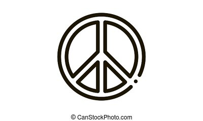 lgbt hippie love freedom animated icon on white background