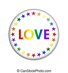 Lgbt Love Button
