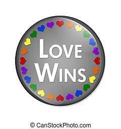 LGBT Love Wins Button
