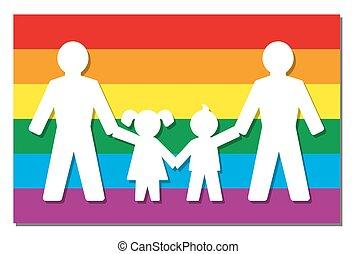 LGBT Parents Pride Flag Icon