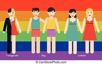 LGBT person illustration