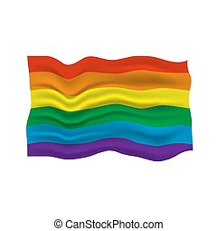LGBT pride flag in vector format. Rainbow flag