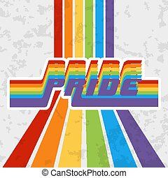 LGBT Pride typography design for poster, flyer, brochure cover, or other printing products. Vector illustration