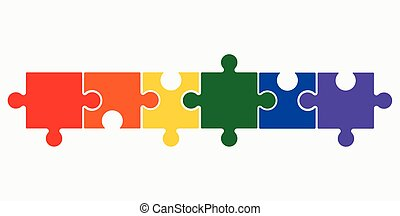 Lgbt puzzle concept