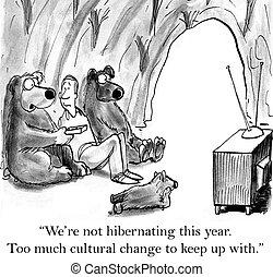 lhes, mostrar, ursos, uso, tv, querer, como, homem