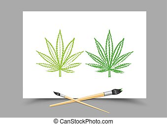 lição, cânhamo, droga, desenho