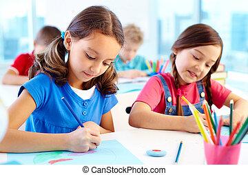 lição, desenho