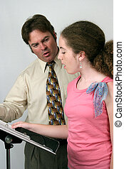 lição, voz, música