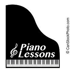 lições, piano