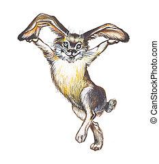 lièvre, (rabbit, bunny)