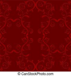 liść, czerwone tło