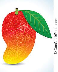 liść, czerwony, soczysty, mangowiec