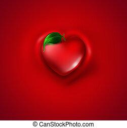 liść, serce
