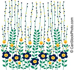 liść, wektor, projektować, kwiat, natura