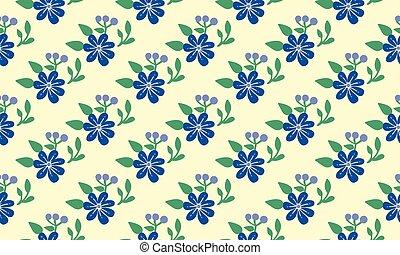liść, wiosna, tapeta, design., prosty, seamless, próbka, kwiat, tło