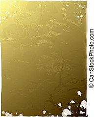 liść, złoty