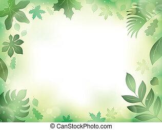 liście, 2, temat, tło