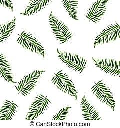liście, dłoń, białe tło, odizolowany