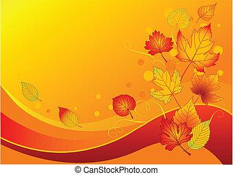 liście, jesień