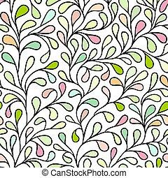 liście, seamless, próbka