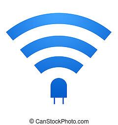 Li-Fi Icon - Li-Fi icon design. Li-Fi zone sign. isolated on...