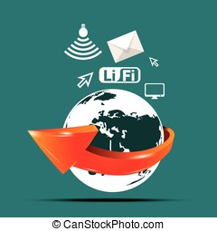 li-fi technology. line fidelity