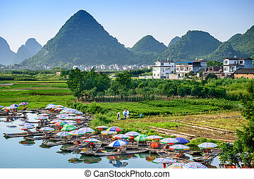 Yangshuo, China on the Li River.