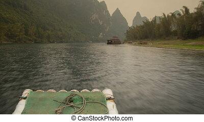 Li river rafting timelapse